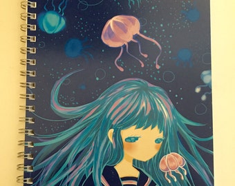 Jellyfish girl sketchbook