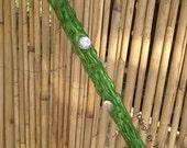 Fairy Wand with Glow in The Dark Tip & Rhinestones, Metallic Green Wand for Fairy Costume, Fantasy Costume Accessories Green Fairy Wand