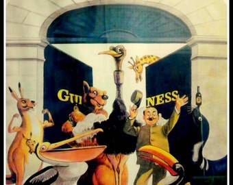 Guinness Beer Stout Advert Poster -  1950s.  Print