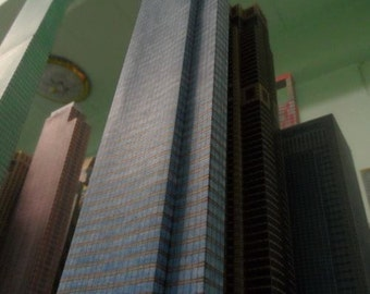 Paper Model of Sukhum Tower Hand Made 100% (Assembled by Hand)