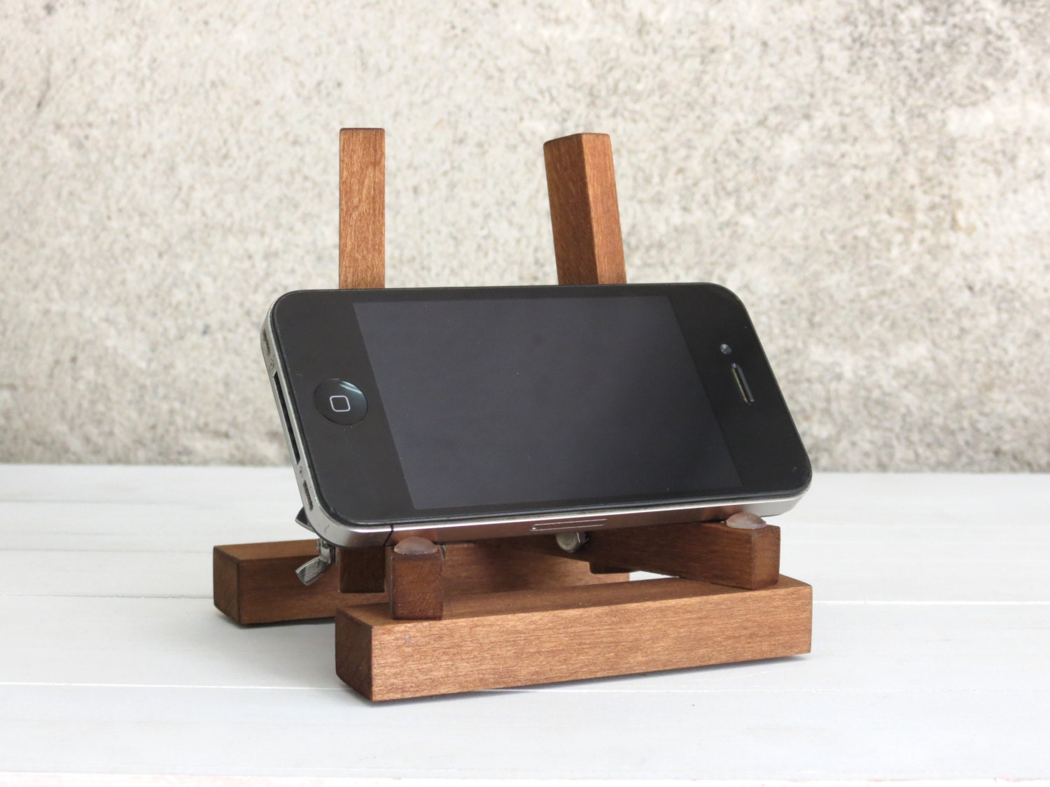 Wooden iphone stand kutuk men gift wood ipad by paladim