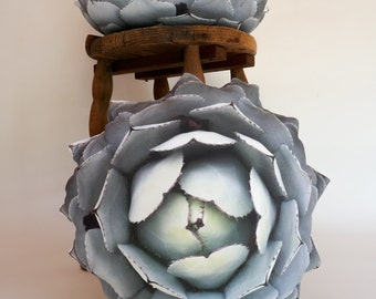 2-sided Agave Succulent pillow free US shipping