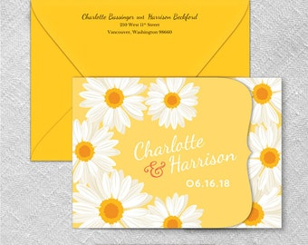 Daisy All Inclusive Wedding Invitation Sample