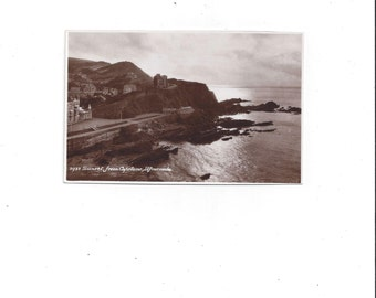 1933 Vintage Black & White Photo Postcard of Sunset from Capstone, Ilfracombe, England, by E.A. Sweetman and Son, Turnbridge Wells UNPOSTED