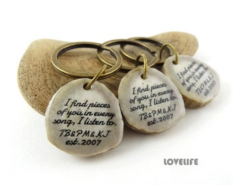 Graduation Keychain Personalized Gift Best Friend Keychain Set of 3 Friendship Quote Unique Bridesmaid Gifts Friends Custom Key Chain