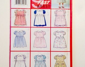 Butterick 6484 Pattern for Toddlers Pinafore and Dress