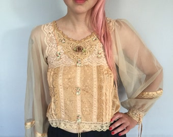 Victorian Inspired Lacy Blouse