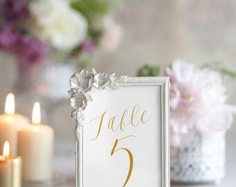 Instant Download Elegant Table Numbers 1-20