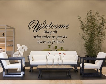 Welcome Guest Quote Vinyl Wall Decal