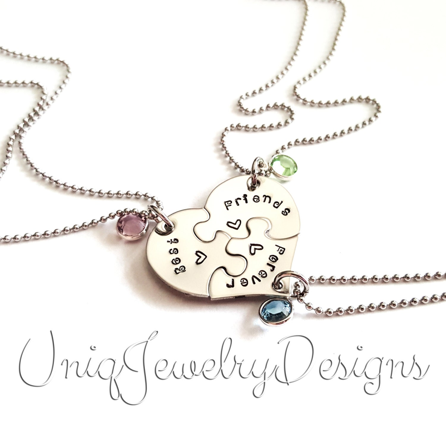 best friends forever puzzle necklace puzzle