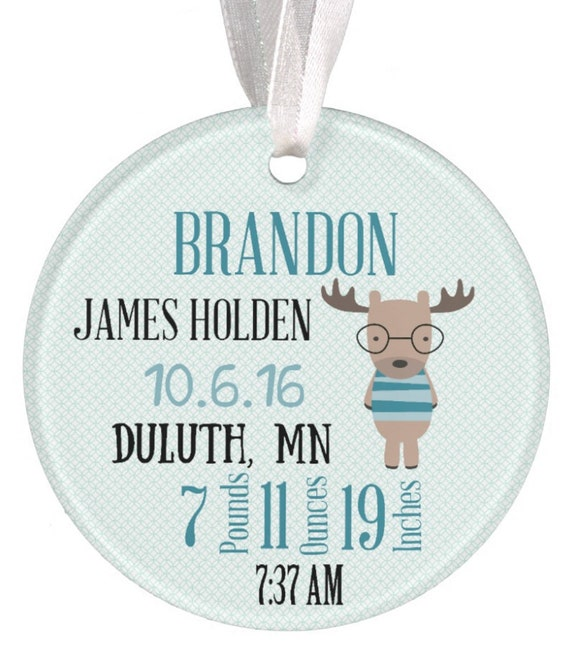 Baptism Ornament Christmas Ornament By Ryellecreations On Etsy: Ceramic Ornament Christmas Ornament Baby Ornament Moose