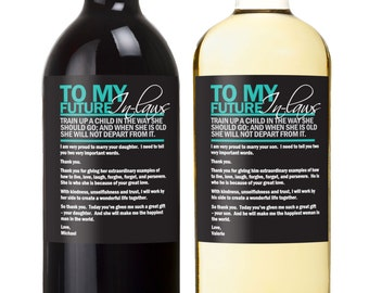 In Laws Wedding Gift Wine Labels