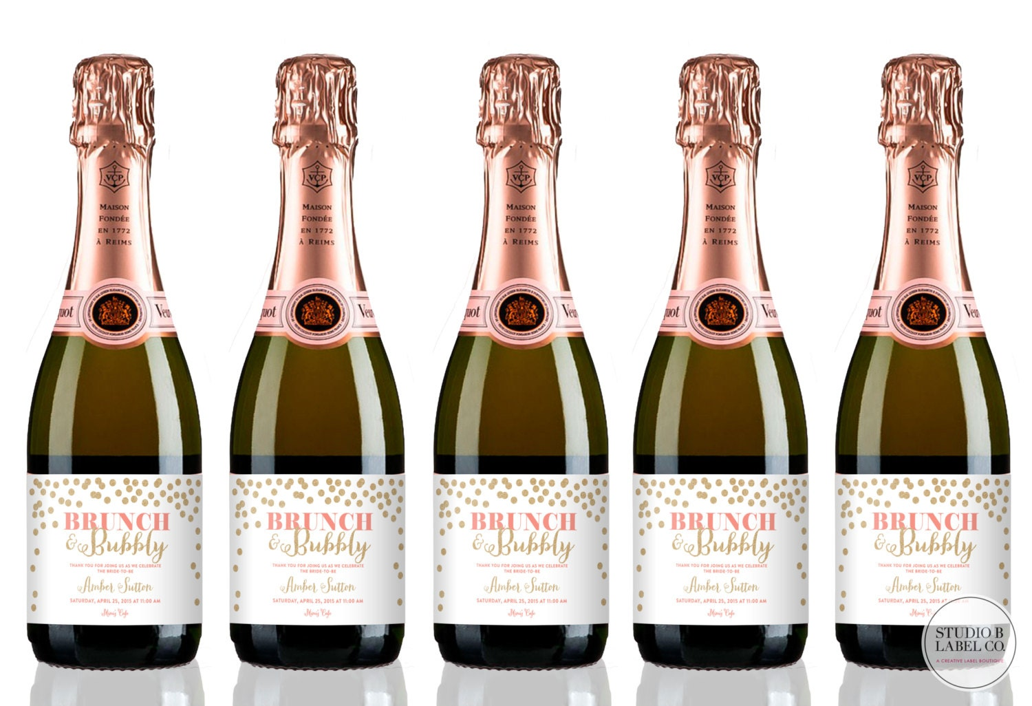 Labels: Bridal Shower Wine Labels Mini Champagne Labels Brunch