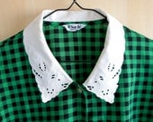 Vintage green checkered b...