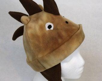 Adult Hedgehog Fleece Hat