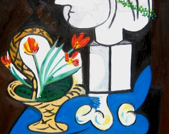 After Picasso's Still Life with Basket of Flowers