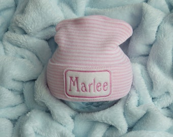 Newborn Girl Hospital Hat. Newborn Girl Hospital Hat. Newborn Girl Take Home. Personalized Newborn Beanie. Newborn Name Hat