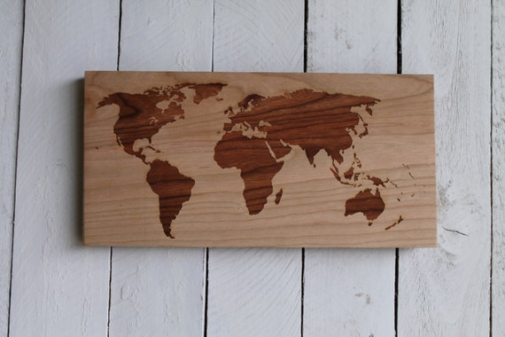 World Map Wall Hanging world map modern wall hanging rustic wooden map sign
