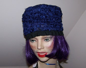 Charming Vintage Blue Bucket Style Hat Featuring WPL Label Made in USA