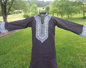VC000015 Kaiser Caftan Kaftan Tunic Hippie Boho Embroider Berry Polkadot Wedding Everyday Dress -by God Oddities Decor on Etsy