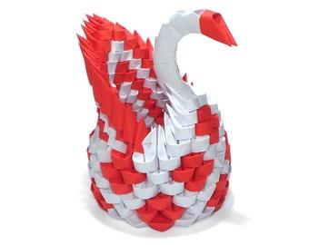 3D Origami Mini Diamon Patter Swan