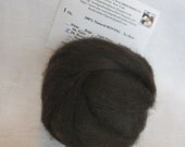 1 oz. Alpaca Roving - 100% Natural Dark Brown for Spinning, Nuno Felting or Needle Felting