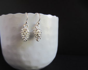 Earrings Pine Cone,Pine Cone,Cone,Silver pendant,Gift,Autumn,Winter,Forest,Tree,Modern,Everyday