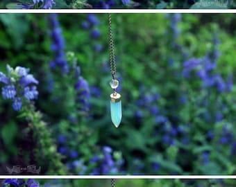 Moonlight Mermaid - Sea Opal Spike Necklace