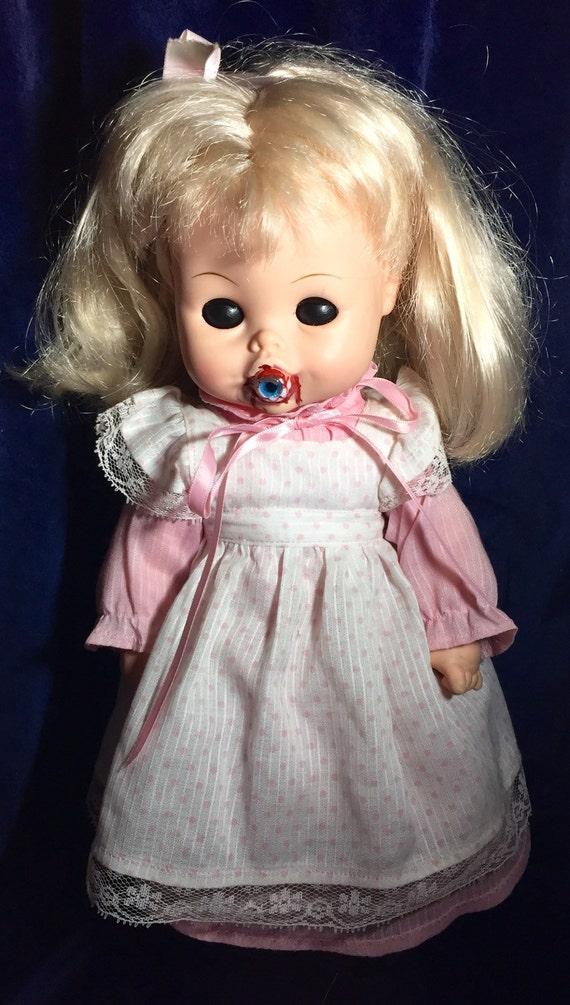 Bella Dawna Original Undead Vintage Horseman Doll Dilated Pupils Cannibal Serial Killer Sucking On Eyeball Biohazard Baby