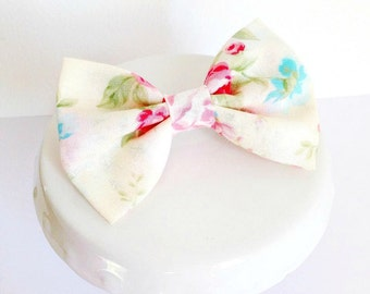 Shabby chic Floral Bow ~  Girls hair Accessory