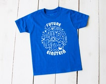 FUTURE EINSTEIN Shirt Space Science Biology Future Mensa Tshirt