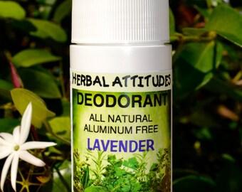 DEODORANT All Natural Aluminum Free Lavender