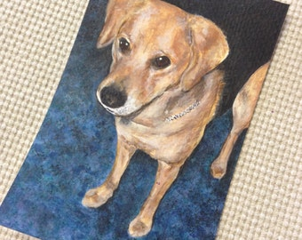 Custom Pet Portrait Acrylic Painting-Handpainted and Framed ready to display!
