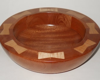 Decorative wood bowl.