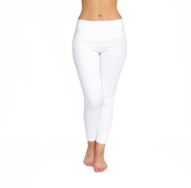 High Waist Yoga Pants White Leggings Crop White Yoga Pants