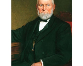 Wilford Woodruff Portrait On Gallery Canvas