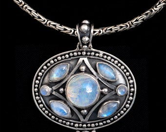 Silver Balinese Moonstone Necklace: CHERISE