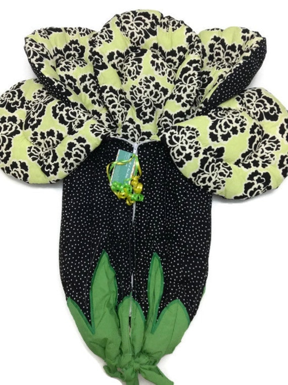 Black and lime green baby bedding boho floral baby bunting - Black and lime green bedding ...
