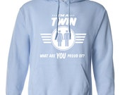 I'm a twin what are you proud of tshirt twin tshirt twin tee gift for a twin twin present paternal twins maternal twins B-509