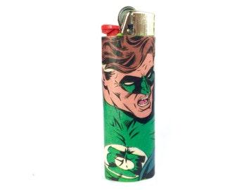 Green Lantern Comic Book Custom Bic Lighter