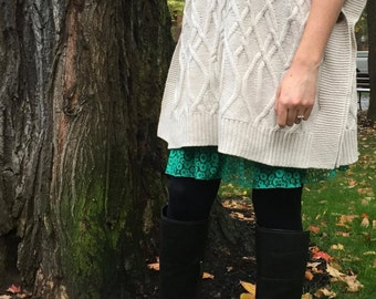 Poppy Lace Kelly Green Snap on Extender for Outskirts Slip