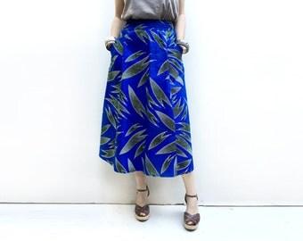 Long Fall Skirt, African Maxi Skirt, Fall Clothing, Long African Skirt, African Skirt, Unique Blue Skirt, African Clothing, Long Skirt