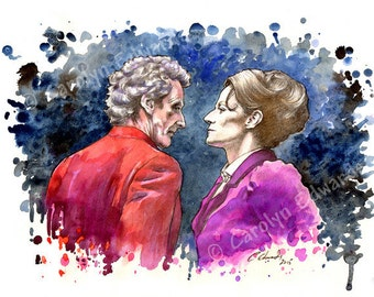 DOCTOR WHO - Missy and the Doctor A4 Art Print (29.7 x 21cm)