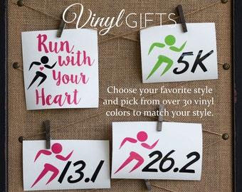 Runners 5K 10K Marathon Race Decal Sticker