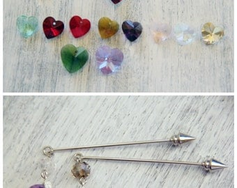 Valentine gifts for her Mothers day gift Birthday gift Mother day gifts Heart brooch Crystal jewelry Heart jewelry Rhinestone Brooch pin