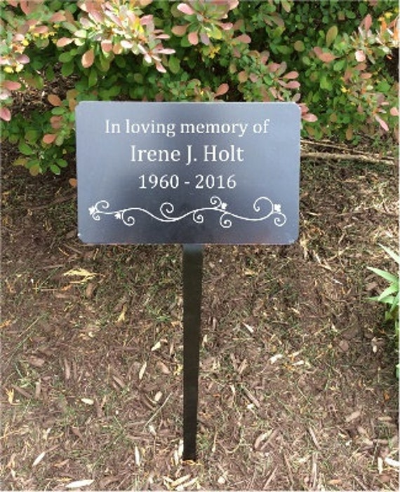 Garden markers memorial plaque metal plaques name plates for Plaque metal decorative pour jardin