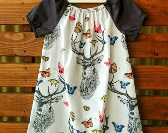 Girls Peasant Style Dress. Dear Butterfly. Size 3 and 4.