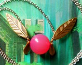 GOING OUT of BUSINESS--70% off Legend of Zelda-inspired healing fairy necklace (gold wings)