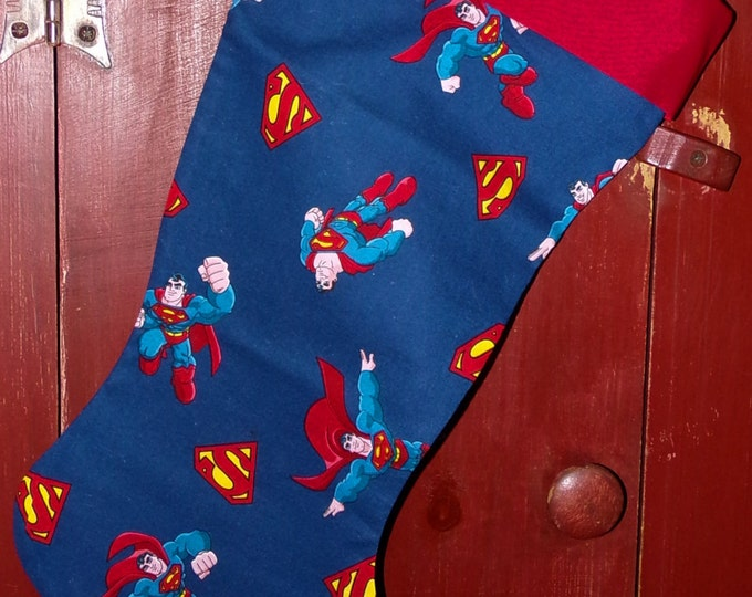 Superman Christmas Stocking