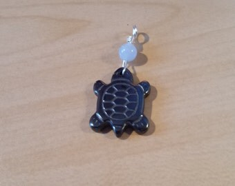 Sea Turtle hematite pendant